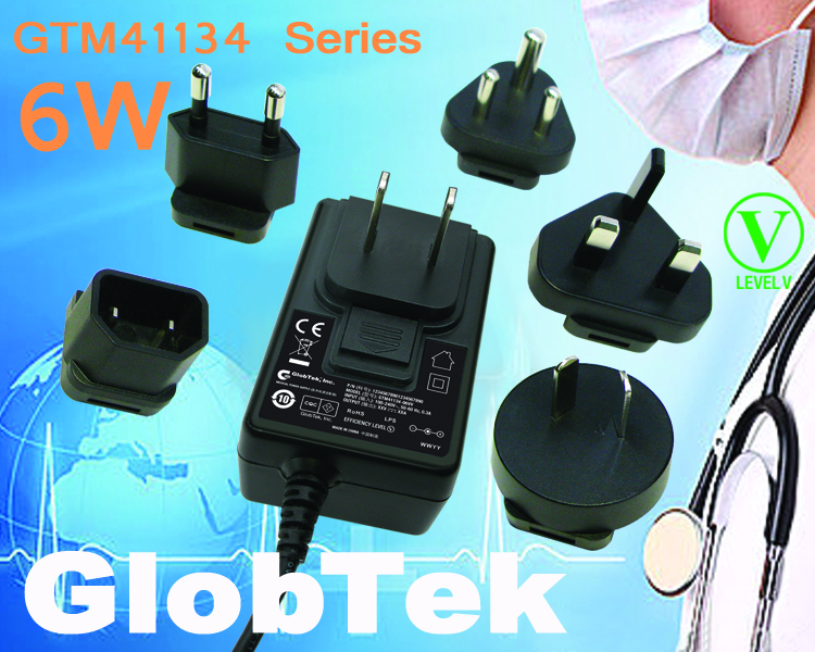 60335-1, UL1310 home use Wall Plug Power Supplies have IP52, Level V efficiency