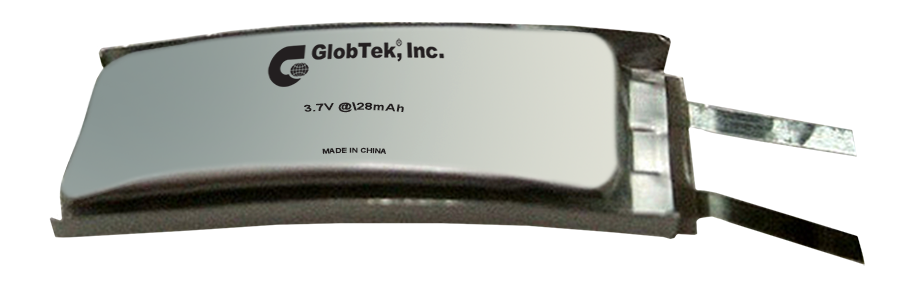 GlobTek's Wearable Curved 3.7 @ 28mAh Li-Po Battery Pack Designed to Meet UL 1642 Cell Approval! A leader in the design, integration, and manufacture of custom battery packs and battery chargers, GlobTek...