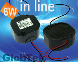 Power Supply Potted In Line Meets IP64 Ingress Protection 6W